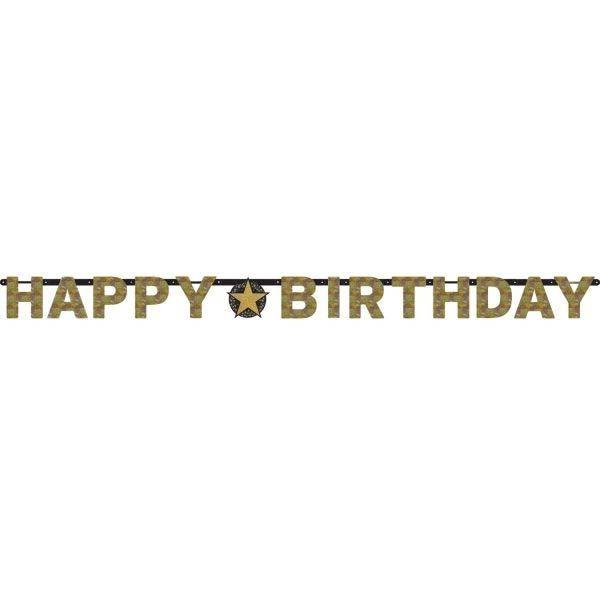 Sparkling Celebration Gold - Happy Birthday Holo Girlande