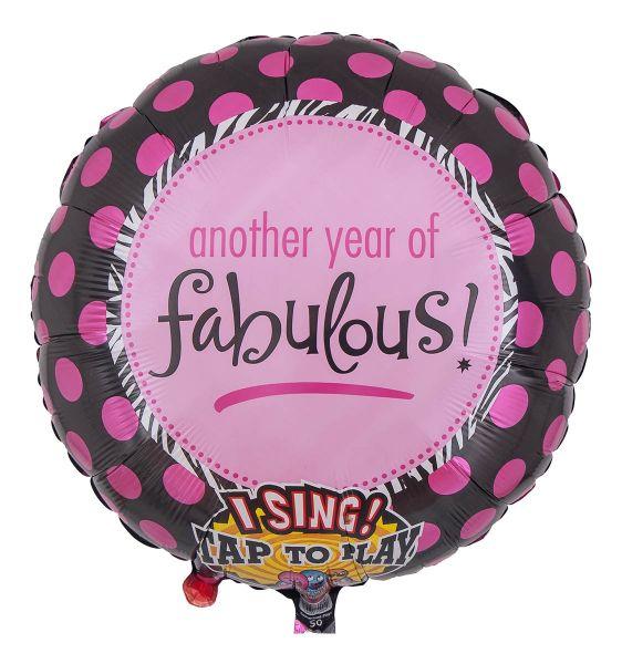 Singender Ballon zum Fabelhaften Geburtstag 71cm