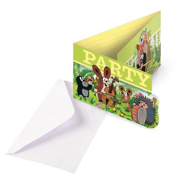 Der kleine Maulwurf - 8 Einladungskarten