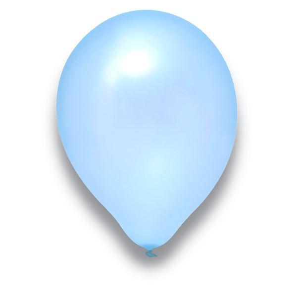 Latexballon Pearl Hellblau 50 Stück Ø 30cm