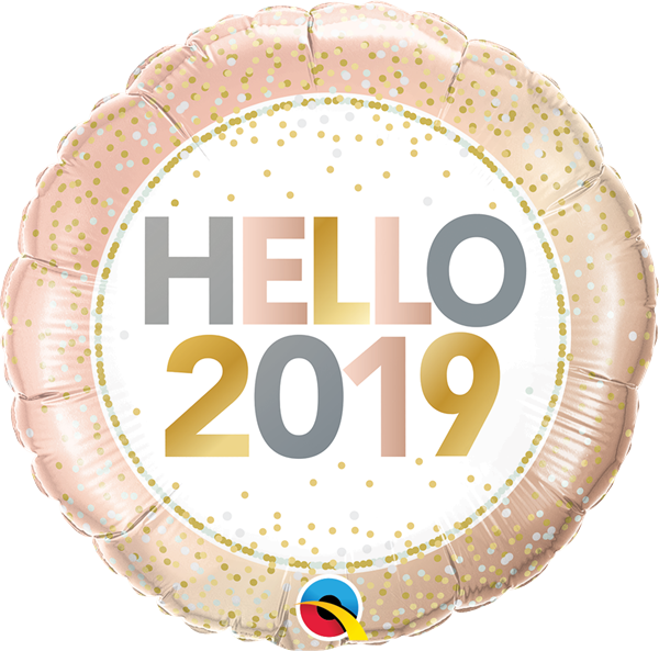 """Neujahrs-Ballon """"Hello 2019"""""""