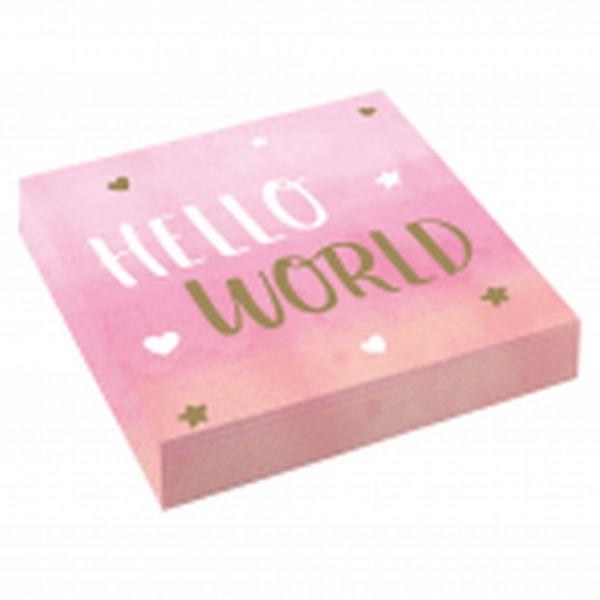 Hello World Girl - 16 Servietten