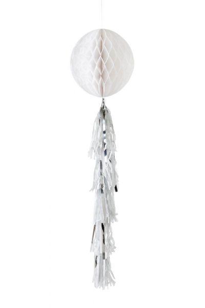 Decadent Decs - Weißer Wabenball mit Tasseln