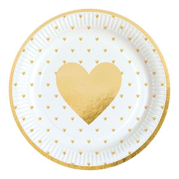 Liebe - 8 Pappteller