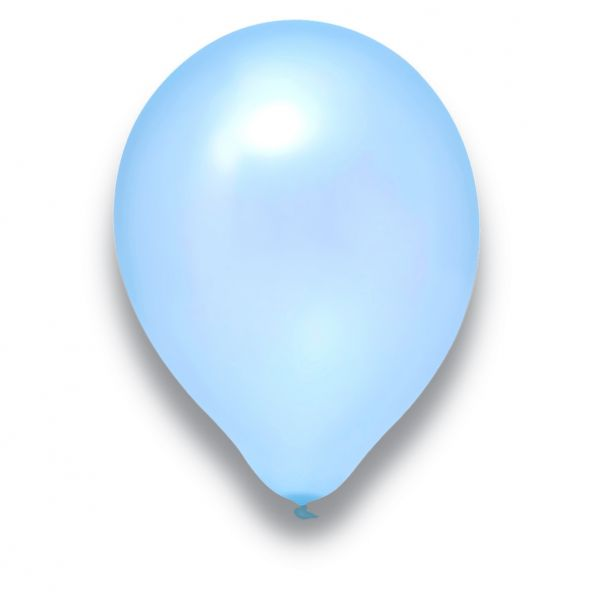 Latexballon Pearl Hellblau 100 Stück Ø 30cm