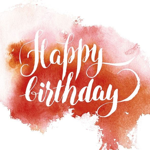 20 Geburtstags-Servietten Aquarell Rot