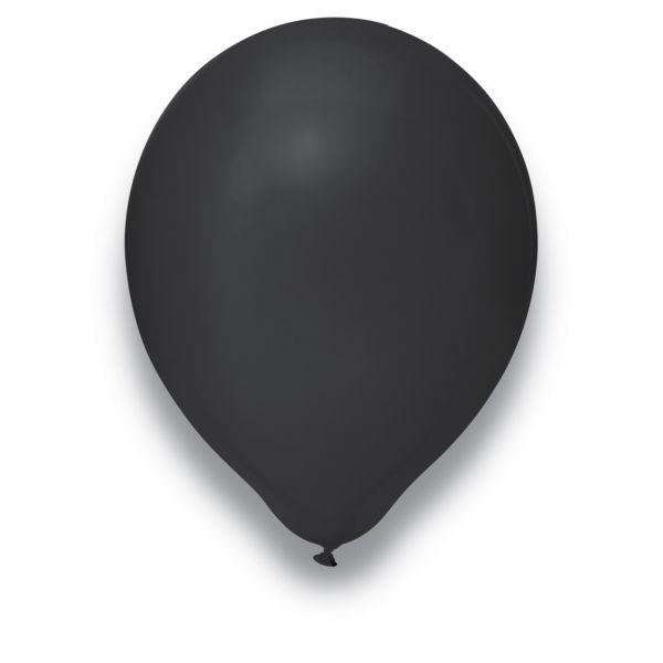 Latexballon Schwarz 50 Stück Ø 30cm
