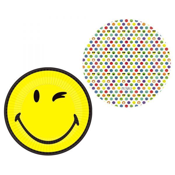 Smiley World - 8 Pappteller