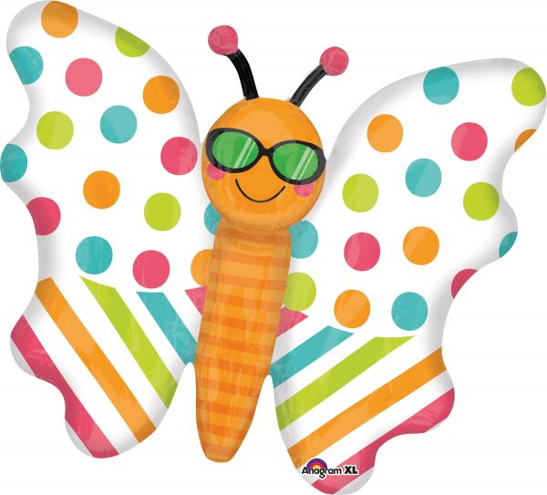 Folienballon Fun in the Sun Schmetterling 60x76 cm