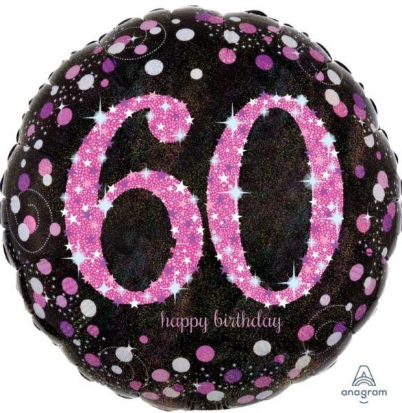 """Folienballon Pink Celebration """"60"""" 43cm"""