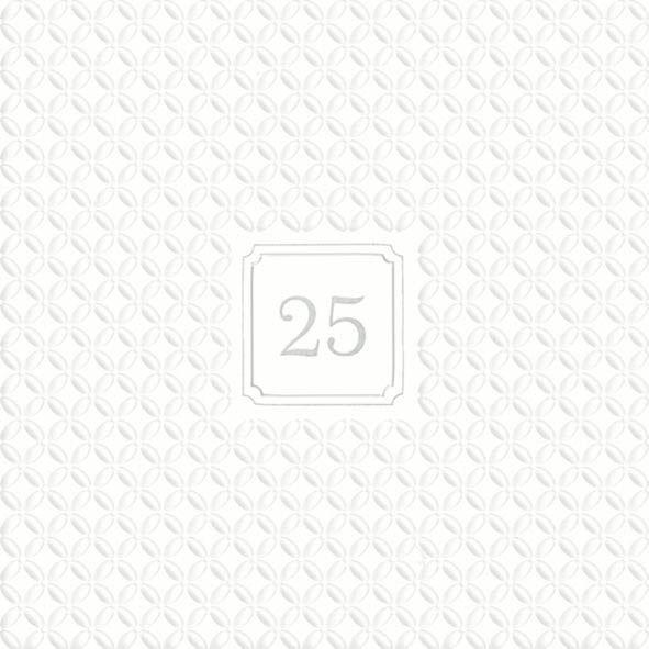 Silberhochzeit - 20 geprägte Servietten