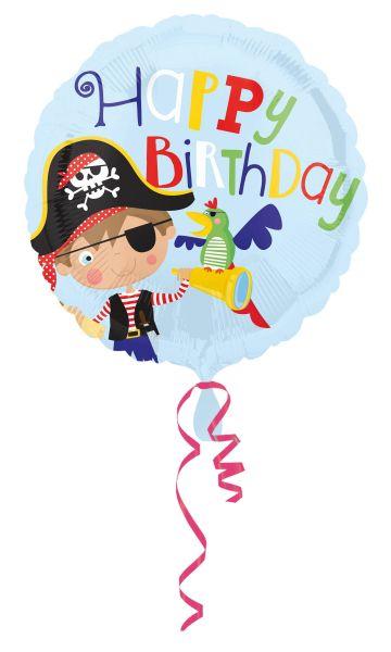 Folienballon Happy Birthday Kleiner Pirat 45cm