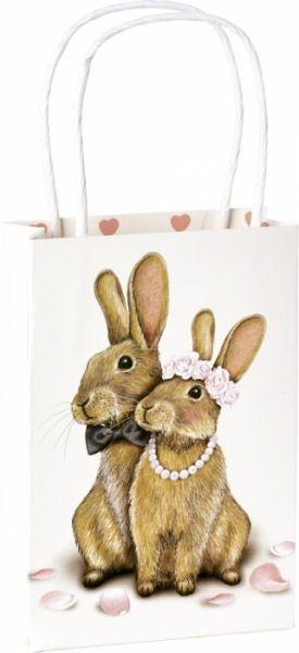Häschen-Hochzeit - Kleine Geschenktasche