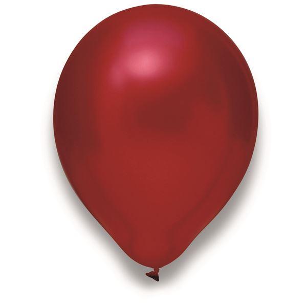 Luftballons Metallic Kirschrot 30cm 100 Stück