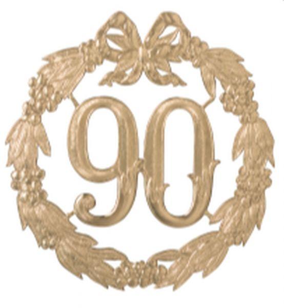 """Jubiläumszahl Gold """"90"""""""