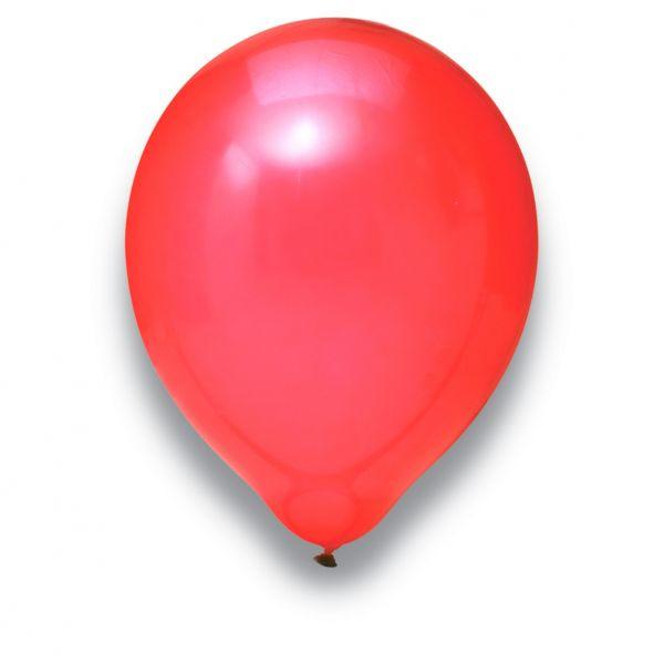 Latexballon Kristall Rot 100 Stück Ø 30cm