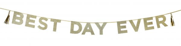 Say It With Glitter - Best Day Ever Gold-Glitzer-Girlande