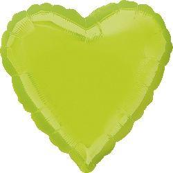Folienballon Herz Kiwi Grün 45cm