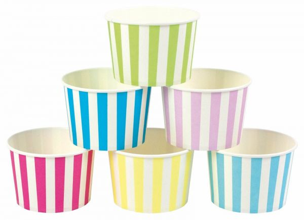 Blau & Pink - 8 Eiscremebecher