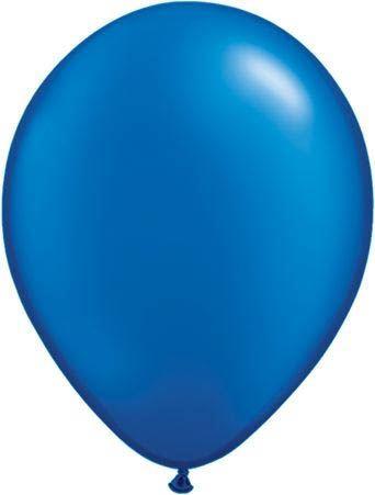 Qualatex Latexballon Pearl Sapphire Blue Ø 40cm