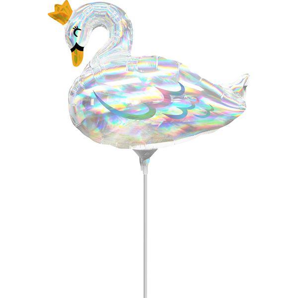 "Folienballon Minishape ""Schwan"" luftbefüllt"