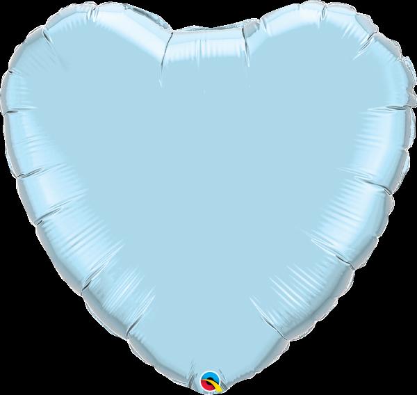 Folienballon Herz Pearl Pastell Blau 90 cm