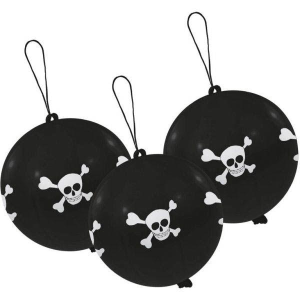 Pirat - Punchingbälle 3 Stück Ø 40cm