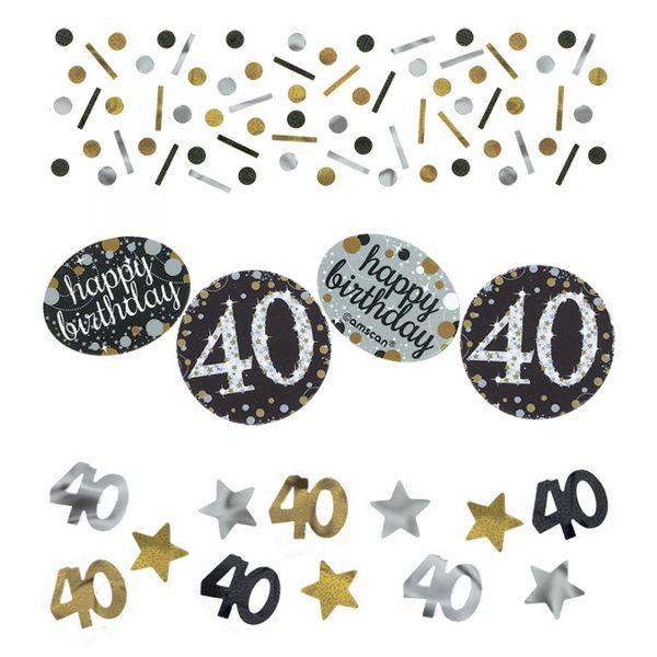 Sparkling Celebration Silber & Gold 40. Geburtstag Konfetti 34g