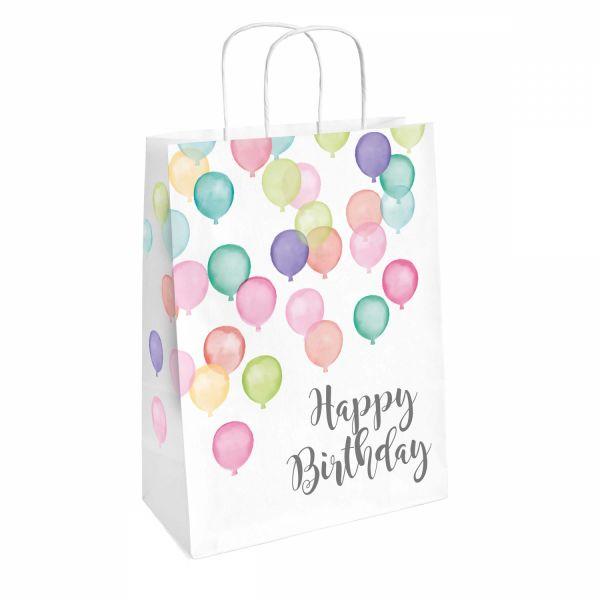 Happy Birthday Pastell - 2 Geschenktüten