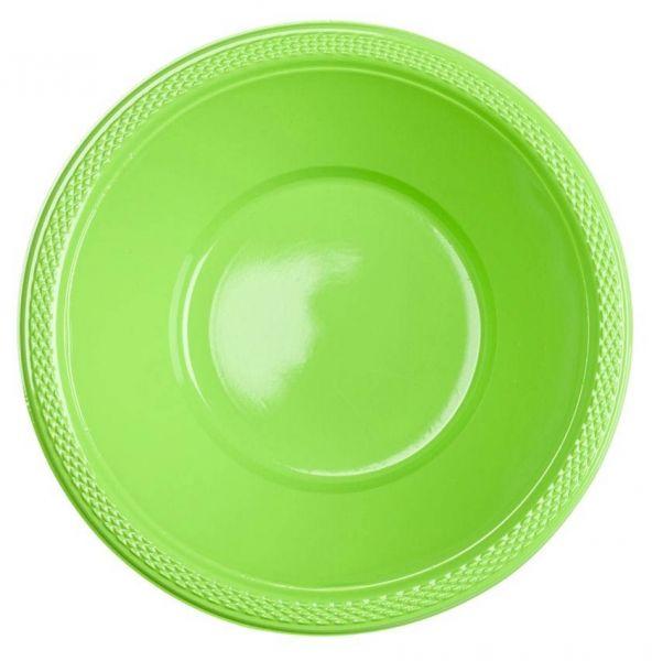 Kiwi Grün - 10 Plastikschüsseln