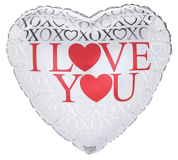 Folienballon Herz XOXO I Love You 43cm