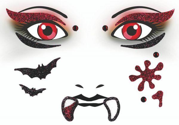 Face Art Sticker - Vampir
