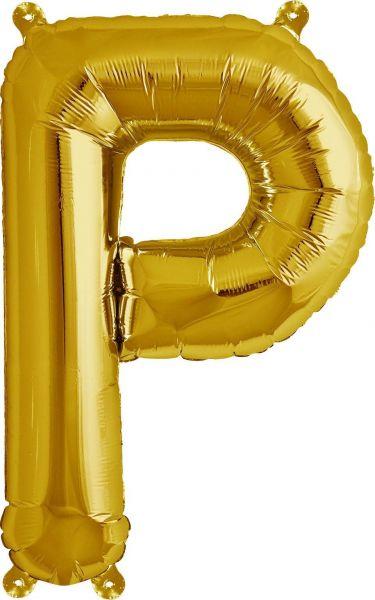 Luftballon Buchstabe P Gold 40cm