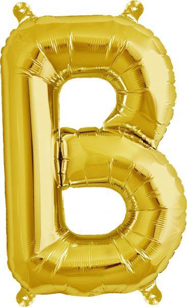 Luftballon Buchstabe B Gold 40cm