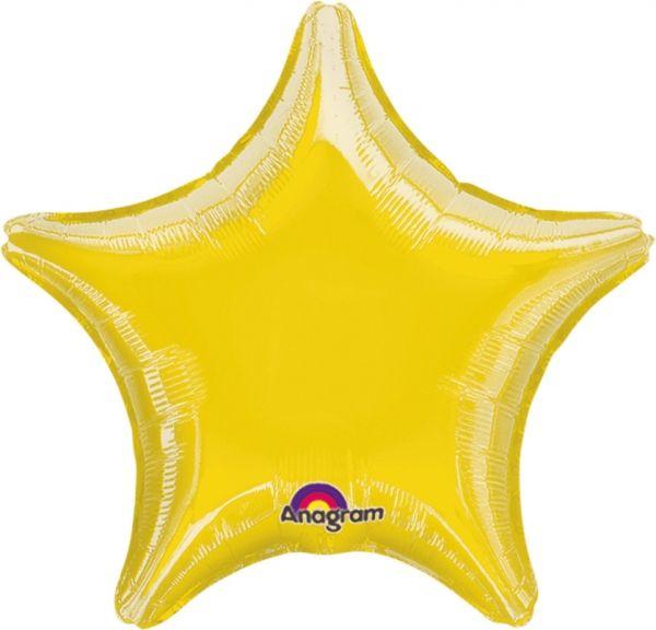 Folienballon Stern Gelb 45cm