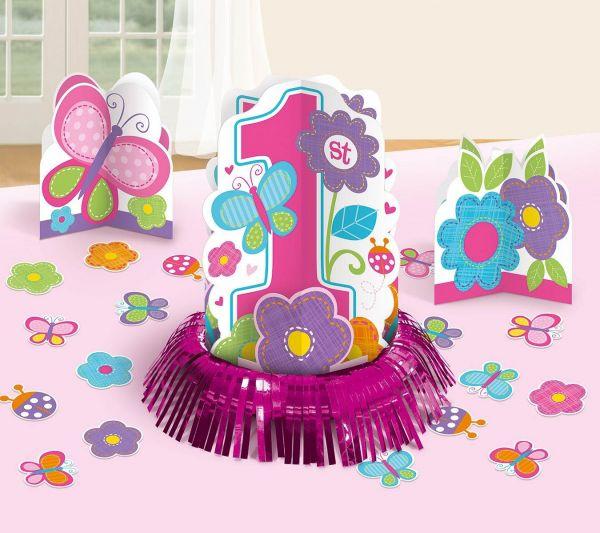 Sweet Birthday Girl - 1. Geburtstag Tischdeko-Set