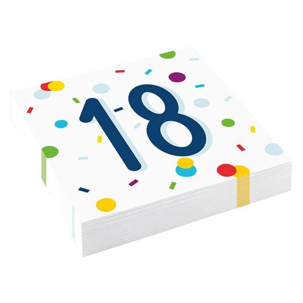 Confetti Birthday - 18. Geburtstag 20 Servietten