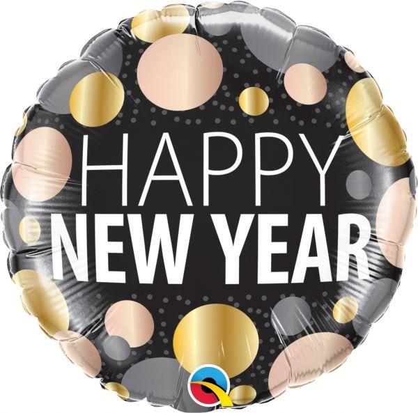 Neujahrs-Ballon Metallic Dots