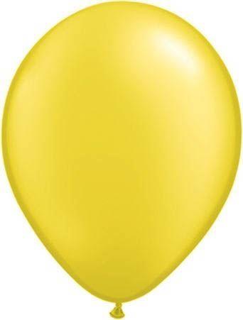 Qualatex Ballon Pearl Zitronengelb 30cm