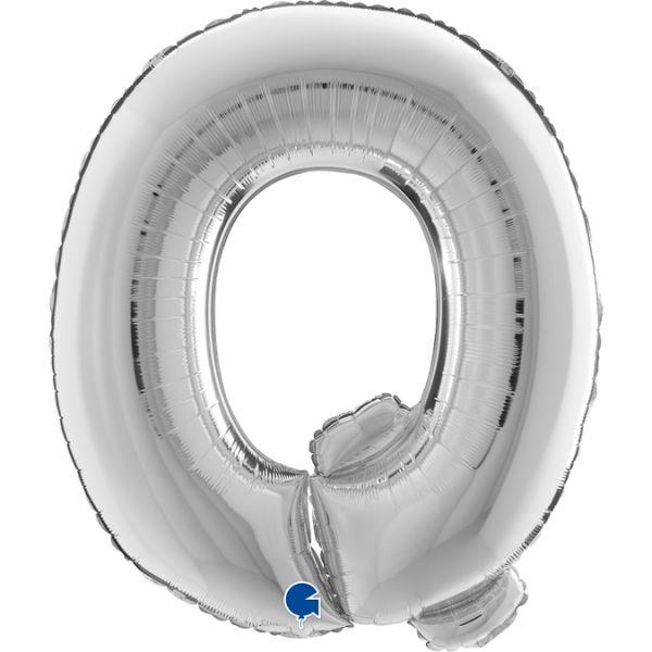Folienballon Buchstabe Q Silber 100cm