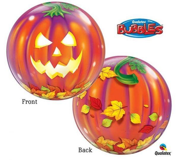 Bubble Ballon Halloween Kürbis 56cm