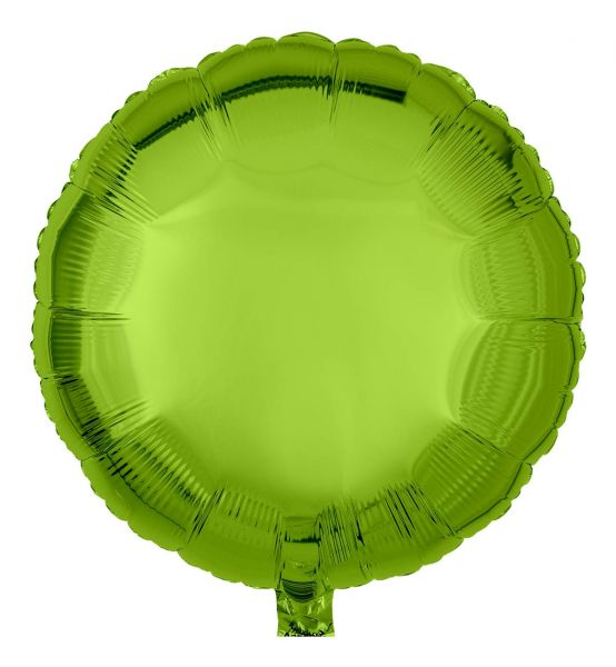 Folienballon Rund Limettengrün 45cm