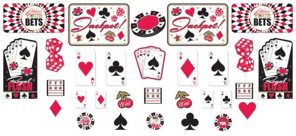 Casino Party - Deko Cutouts 30 tlg.