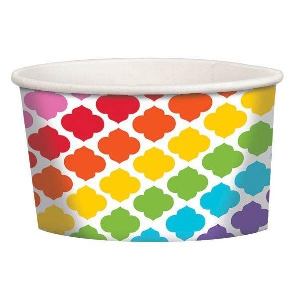 Paper Minis - 12 Dessertbecher Regenbogen