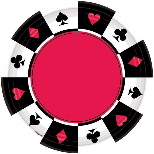 Casino Party - 8 Kleine Pappteller