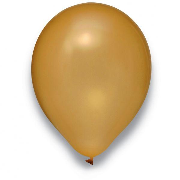 Latexballon Metallic Gold 100 Stück Ø 30cm