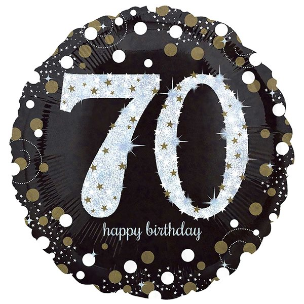 "Folienballon Sparkling Birthday ""70"" 43cm"