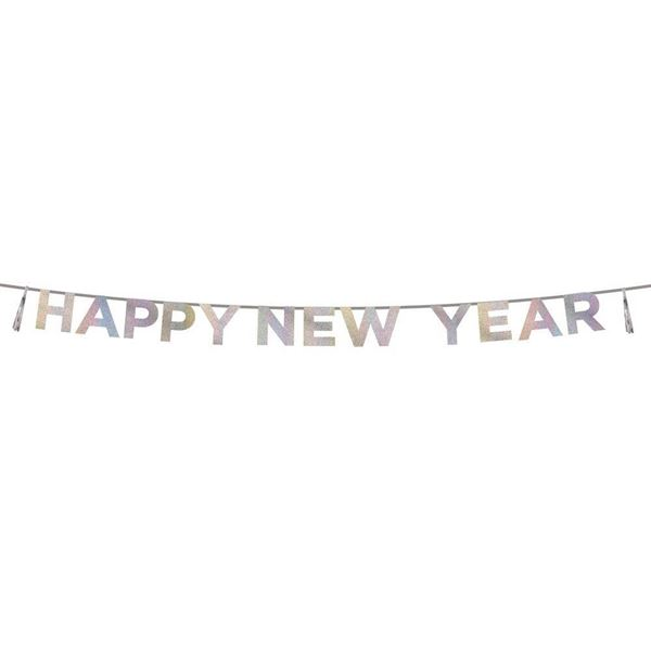 Say It With Glitter - Irisierende Happy New Year Girlande