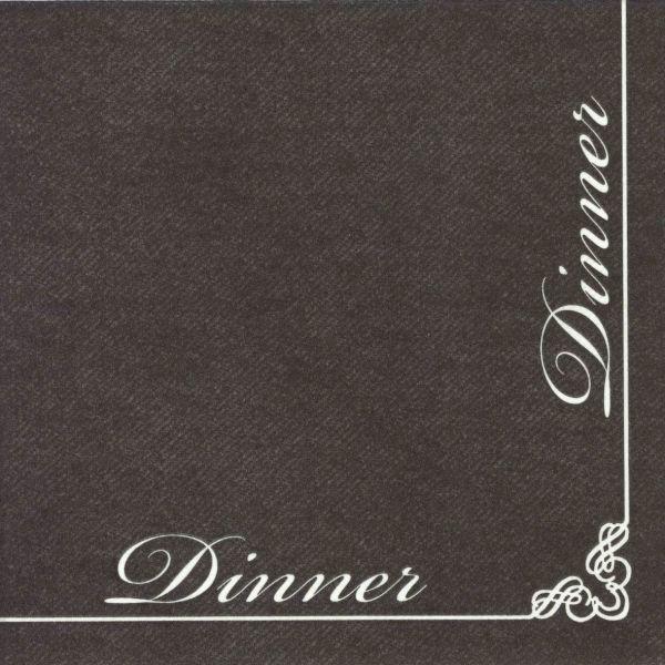 Dinner - 12 schwarze Vlies-Servietten