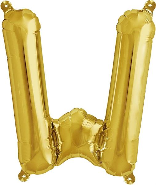 Luftballon Buchstabe W Gold 40 cm